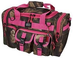 "Womens Hunters Camo Pink 18"" Inch Duffel Molle Tactical Gear"