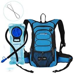 MIRACOL Hydration Backpack 2L Water Bladder & Long Tube Brus