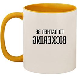 I'd Rather Be BICKERING - 11oz Ceramic Colored Inside and Ha