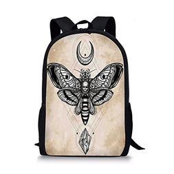 iPrint School Bags Fantasy House Decor,Dead Head Hawk Moth L