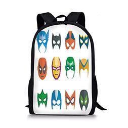 d6fed091de20 iPrint School Bags Superhero,Hero Mask F...