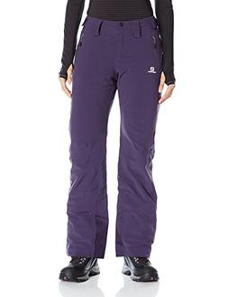 Salomon Women's Iceglory Pants, Nightshade Grey, Medium/Regu