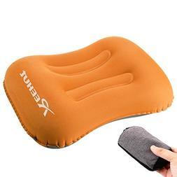 REEHUT Inflatable Camping Pillow, 80 Gram, Soft Fabric, Ergo