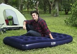 Inflatable Flocked Twin Air Bed Mattress Airbed Camping Gear