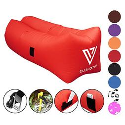 Vitchelo Inflatable Couch by Giant Bean Bag Chairs for Kids