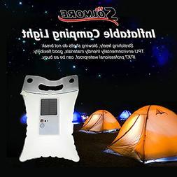 Solar Light, SOLMORE LED Inflatable Solar Lantern Lamp Campi