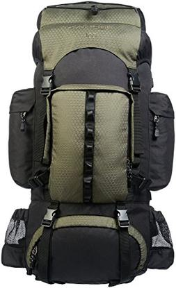AmazonBasics Internal Frame Hiking Backpack with Rainfly, 55