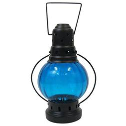 Armor Venue Iron Candle Lantern Round Color Glass Antique Fi