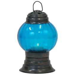 Armor Venue Iron T-Light Candle Lantern Antique Finish Glass