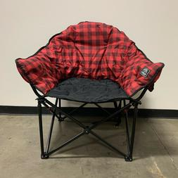 Kuma Gear Lazy Bear Cushioned Folding Camping Chair Red and