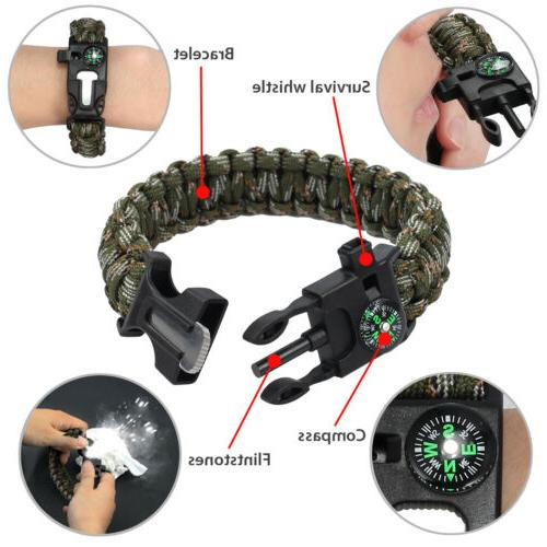16 in 1 SOS Outdoor Military Survival Gear Kits Kit Tool