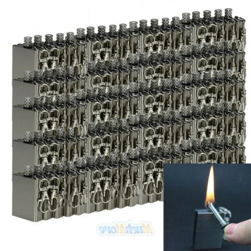100pcs survival emergency fire starter flint metal