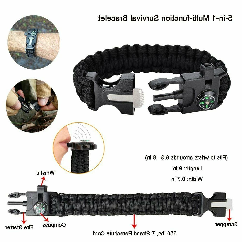 11 Camping Survival Equipment Outdoor Tactical Set