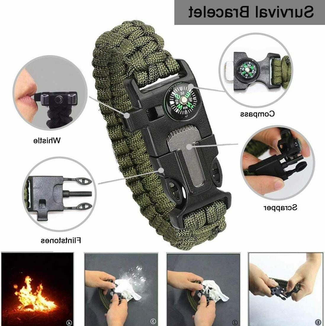 13 Survival Kit Outdoor Hiking Camping