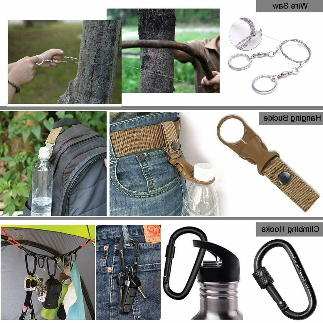 13 in Survival Kit Hiking Camping MilitaryTactical