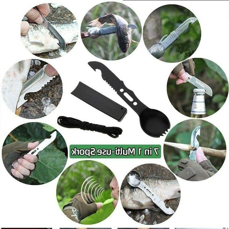13 in Survival Kit Outdoor Hiking Camping MilitaryTactical