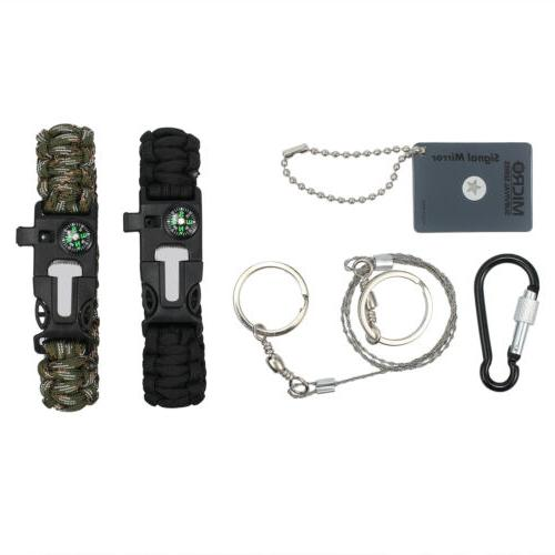 16 in 1 Outdoor Camping Military Survival Gear Kits Box Emergency Kit