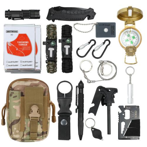 18 in 1 survival kit emergency tactical