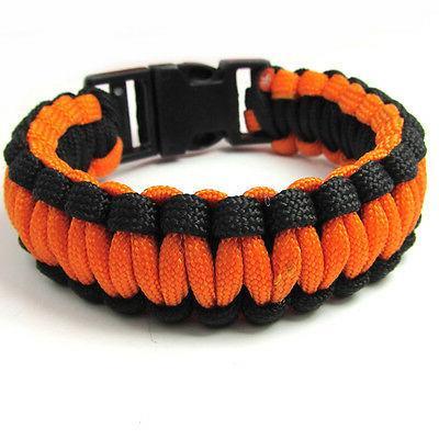 1pcs paracord parachute rope bracelet wristband survival