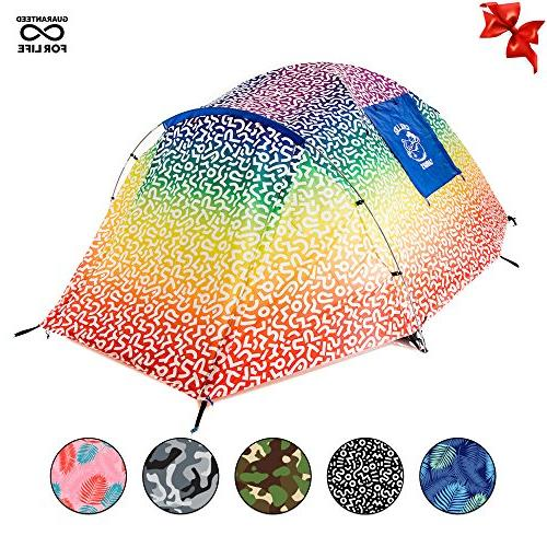 2 Person Rainbow Music Festivals Tent Camping Ultimate Backp