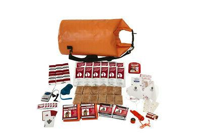 2 PERSON SURVIVAL KIT EMERGENCY CAMPING GEAR FOOD WATER PROO