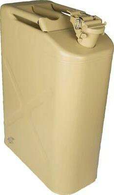 5IVE STAR GEAR 20L  Style Fuel Can, TAN 5881000 Camping Gear