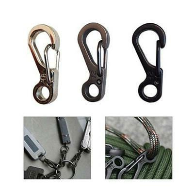 20x Alloy Camping Gear Snap Spring Clip Hook Carabiner Keych