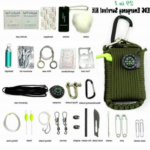29 in 1 emergency camping survival kit