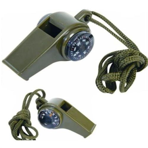 Fashion 3 in1 Emergency Survival Gear Camping Hiking Whistle