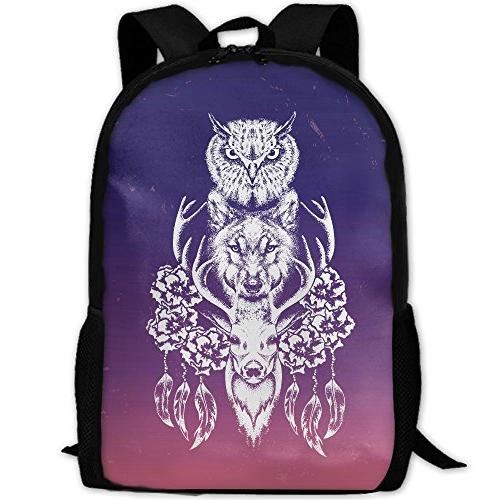 3d owl wolf deer laptop