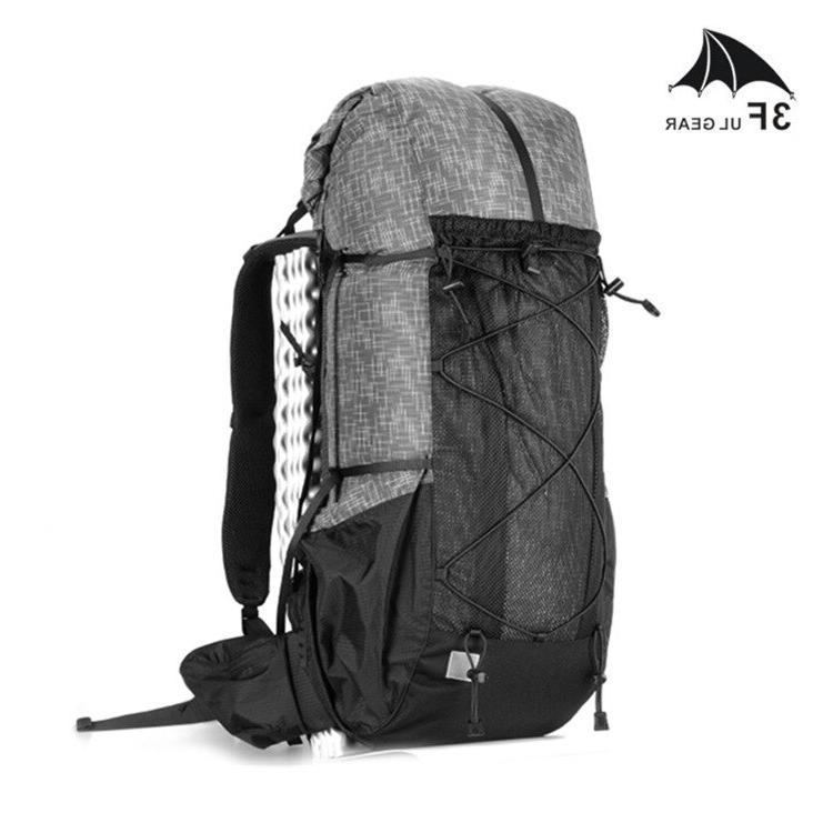 3F UL Water-resistant Hiking Backpack Lightweight Pack Travel Mountaineering Trekking Rucksacks <font><b>40</b></font>+16L