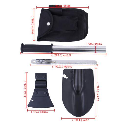 4 In Survival Emergency Camping Shovel Knife Gear Kit