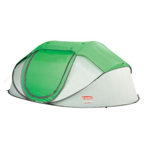 Coleman 4-Person Pop-Up Tent,Green/Grey Camping Privacy Shel