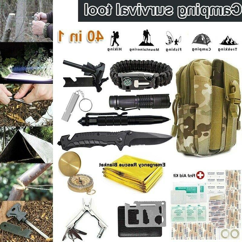 40 in 1 camping survival gear kits