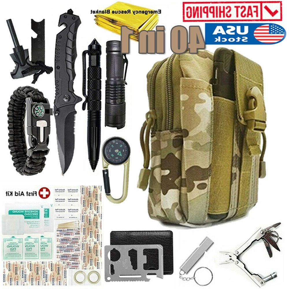 40 in 1 emergency survival kit outdoor