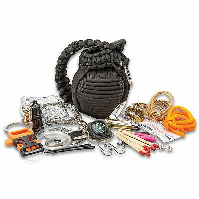 48pc Paracord Grenade Survival Kit Military Emergency Tool Gear Outdoor