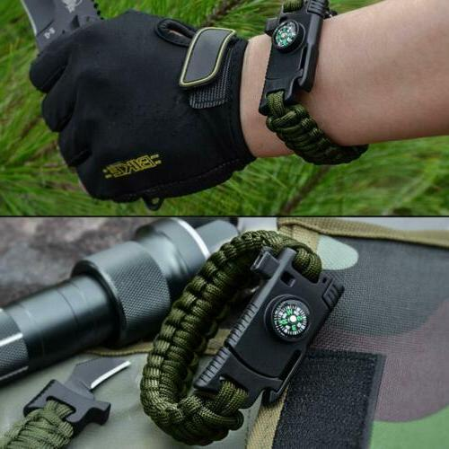 5-in-1 Camping Survival Bracelet Outdoor Hunting with