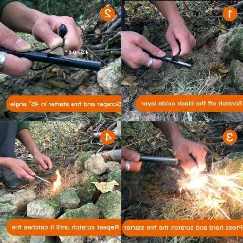 5X 1/2 Ferrocerium Fire Camping Tool Gear