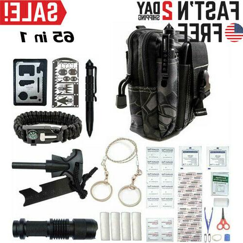 65 in 1 emergency camping survival equipment