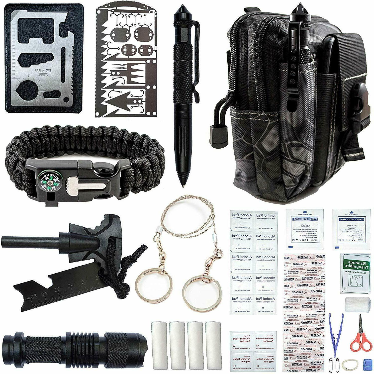 65 in 1 Outdoor Camping Survival Gear Kit Fishing Tactical B
