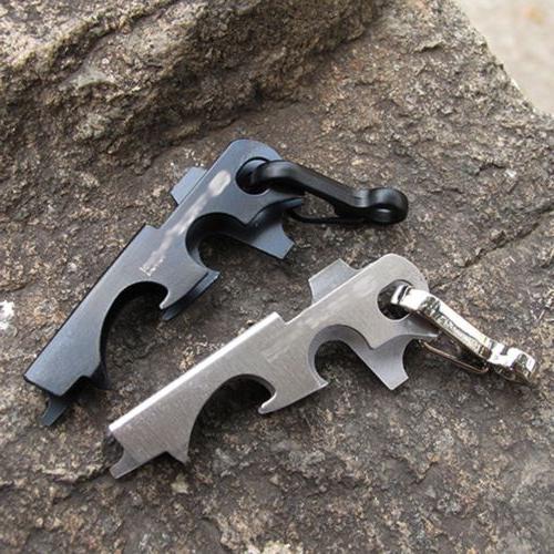 8-in-1 Steel Multi Keychain Camping Gear