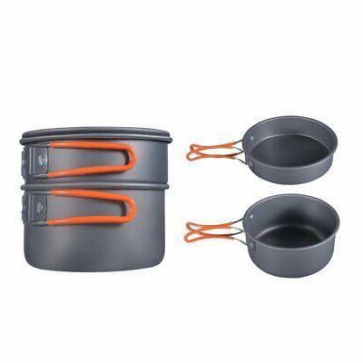 8pcs Camping Kit Cookset Outdoor Compact