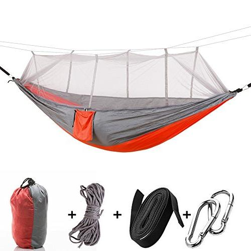 AYAMAYA Camping Hammock with Mosquito Net & Tree Straps for