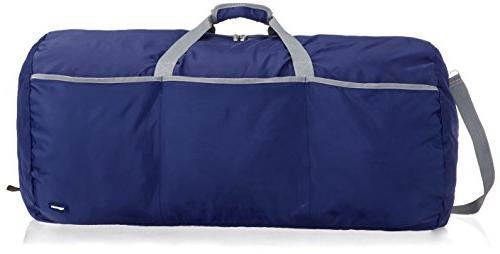AmazonBasics Large Duffel Bag, Navy Blue