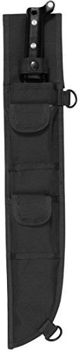"""Black Military Style Machete Sheath Molle Tactical Cover 18"""""""