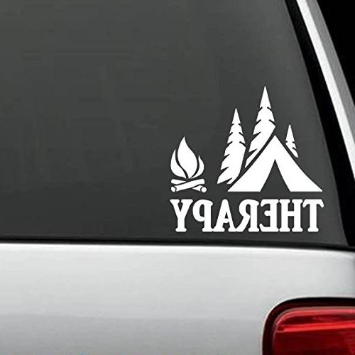 Bluegrass Decals F1070 Camping Therapy Decal Sticker