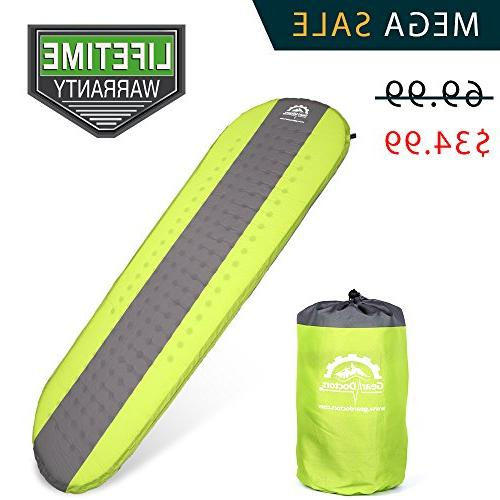 Gear Doctors- Self Inflating Sleeping Pad - Ultra Lightweigh