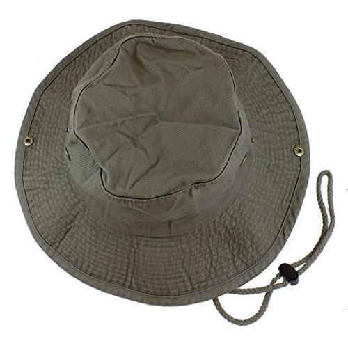 Gelante 100% Cotton Stone-Washed Safari Booney Sun Hats 1910
