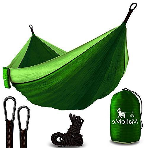 MalloMe Double Portable Camping Hammock - 27 Colors - Heavy