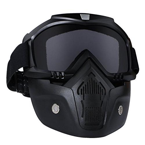 Motorcycle Helmet Riding Goggles Glasses With Removable Face
